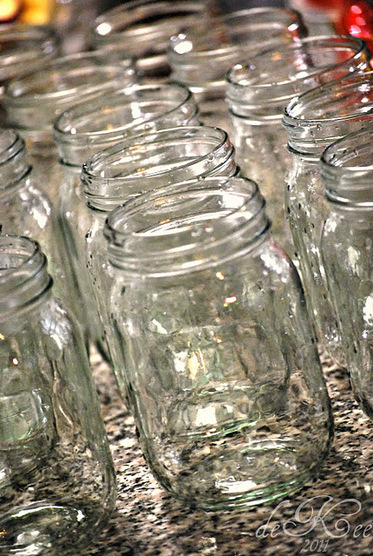 Mason jars ready for fillin'