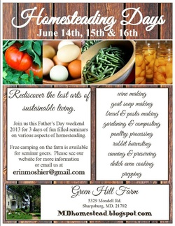 Homesteading Days Flyer