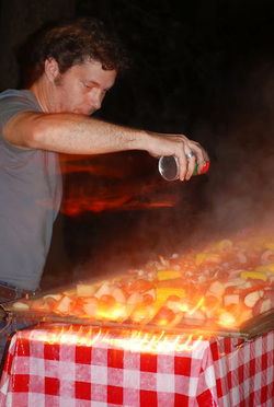 B weaves his cajun magic over the Frogmore Stew